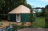 30 ft. yurt in backyard