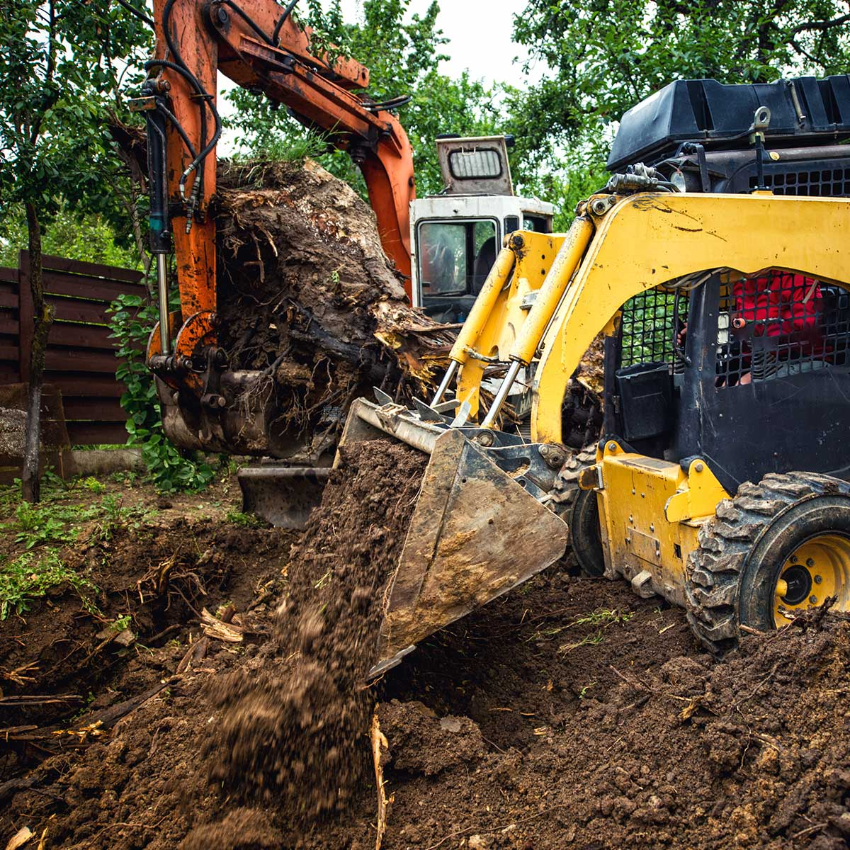 Fort Sands Landscaping backhoe construction