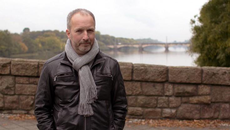 Stefan Schwarz auf dem Elsterwehr.