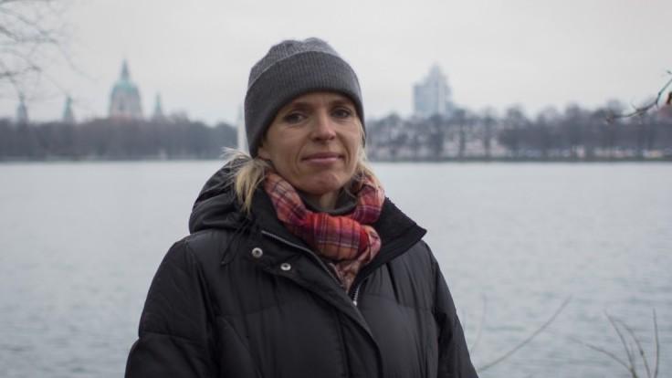 Annette Hess am Maschsee