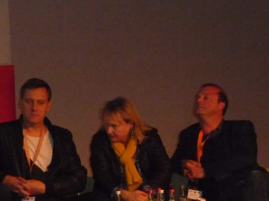 Auf der Suche nach der deutschen Qualitätsserie: Frank Jastfelder (Sky), Liane Jessen (HR), Wolfgang Feindt (ZDF)