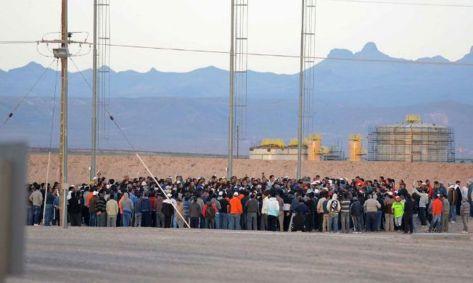Los trabajadores ya habían bloqueado el acceso en Octubre de 2012: Foto: Archivo del Diario Los Andes