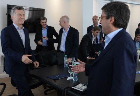 El presidente Mauricio Macri recibió al titular del BID, Luis Moreno, en la Residencia de Olivos. Foto: DyN