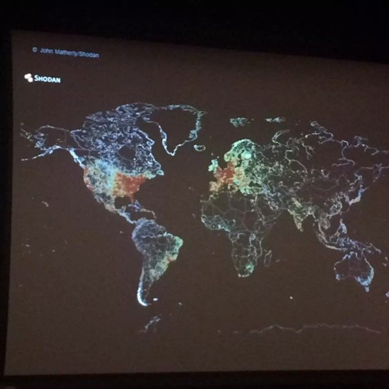 Map of global internet usage