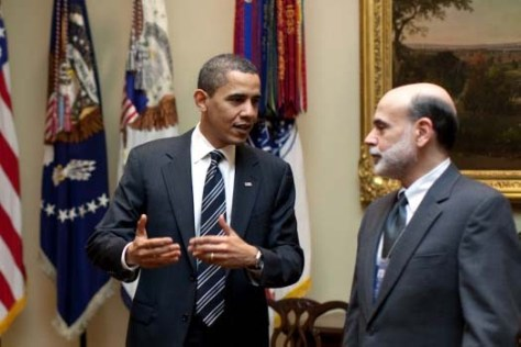 Obama y Bernanke