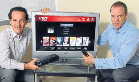 ARNET. Se lanza al negocio de video on demand.