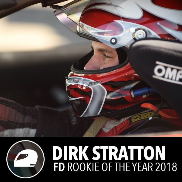 Dirk Stratton rookie of the year running fortune auto coilovers