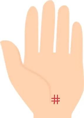 四角紋の手相占い⑦副業力UPのサイン!海王星丘にあるスクエア