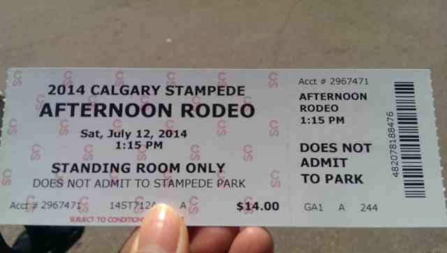 牛仔表演站票