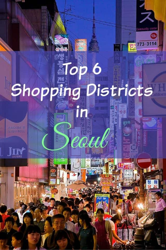 Shopping districts in Seoul