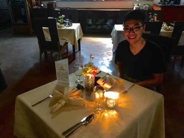 Private dinner at Daluyon Resort in Sabang, Palawan, Philippines