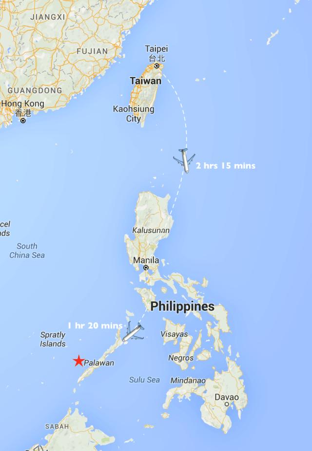 Taiwan Philippines palawan