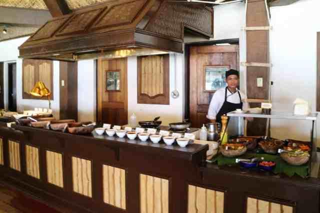 Buffet at Miniloc Island, El Nido, Palawan, Phlippines
