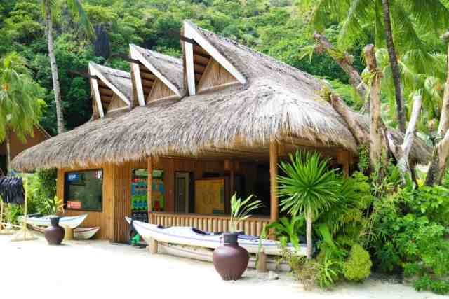 Recreation center at Miniloc Island, El Nido, Palawan, Phlippines