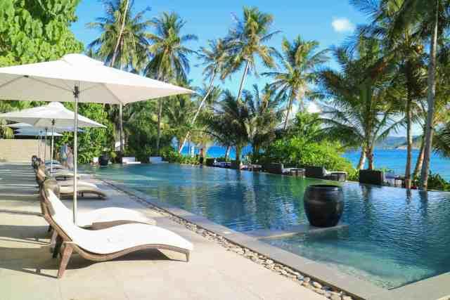 Infinity pool at Pangulasian, El Nido, Palawan, Phlippines