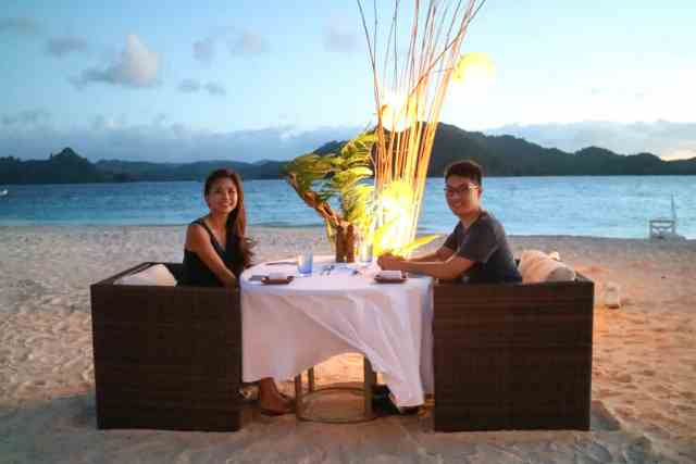 Private dinner at Pangulasian, El Nido, Palawan, Phlippines