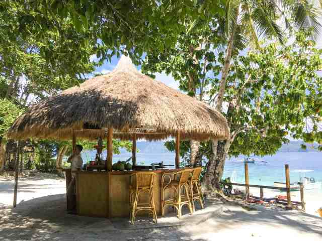 Bar at Entalula Island in El Nido, Palawan, Phlippines