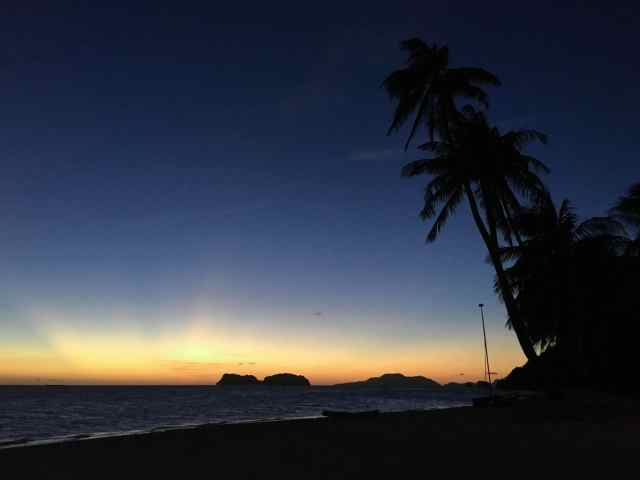 Night sky at Pangulasian, El Nido, Palawan, Phlippines