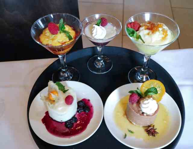 Desserts at Pampa Brazilian Steakhouse, Calgary, Canada