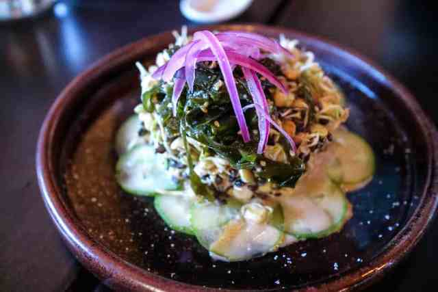 Sprouted lentil salad from Shokunin, Calgary, Canada