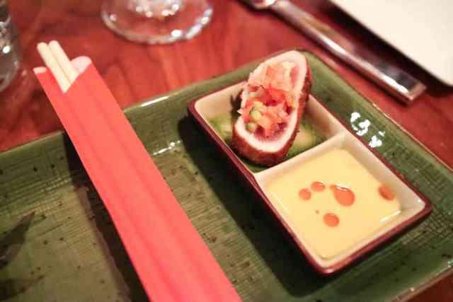 Seared tuna from Alloy, Calgary, Canada