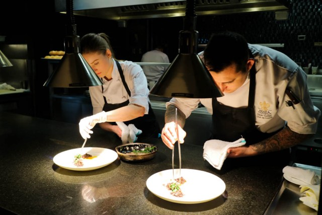Chef's Table's open kitchen concept