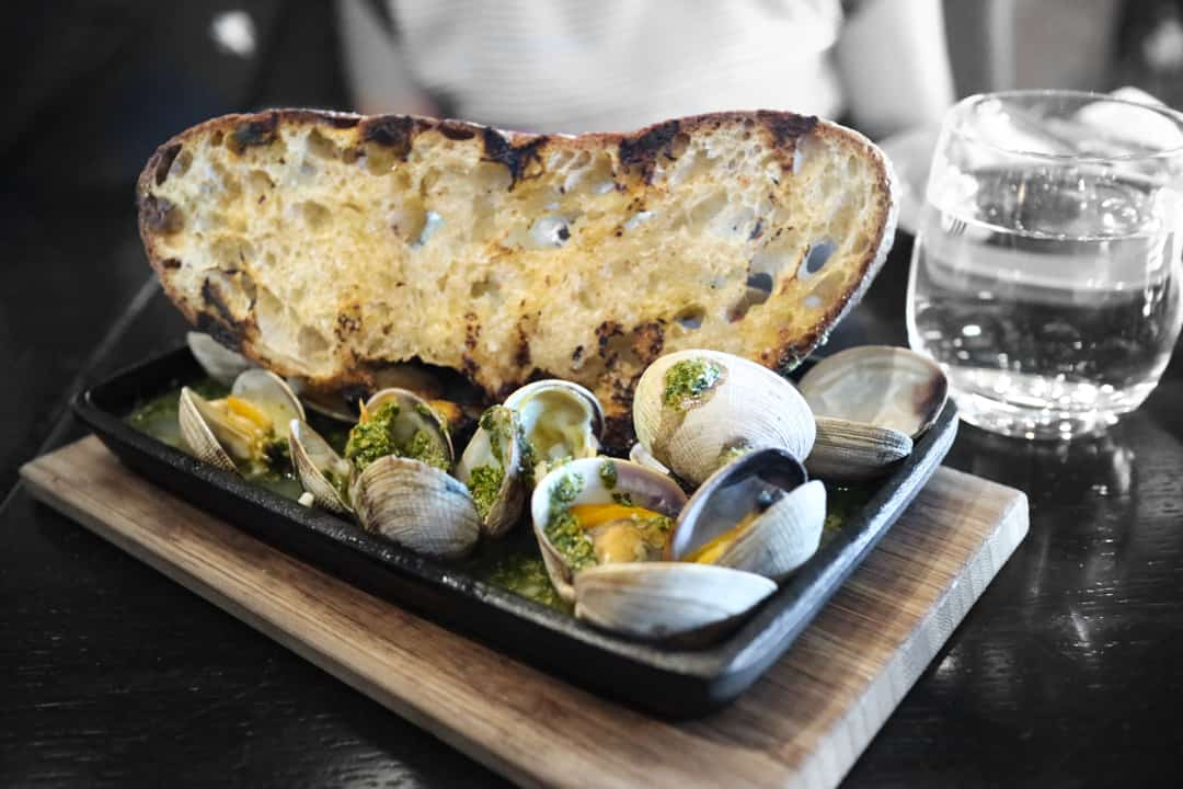 roasted clams from Charbar Calgary
