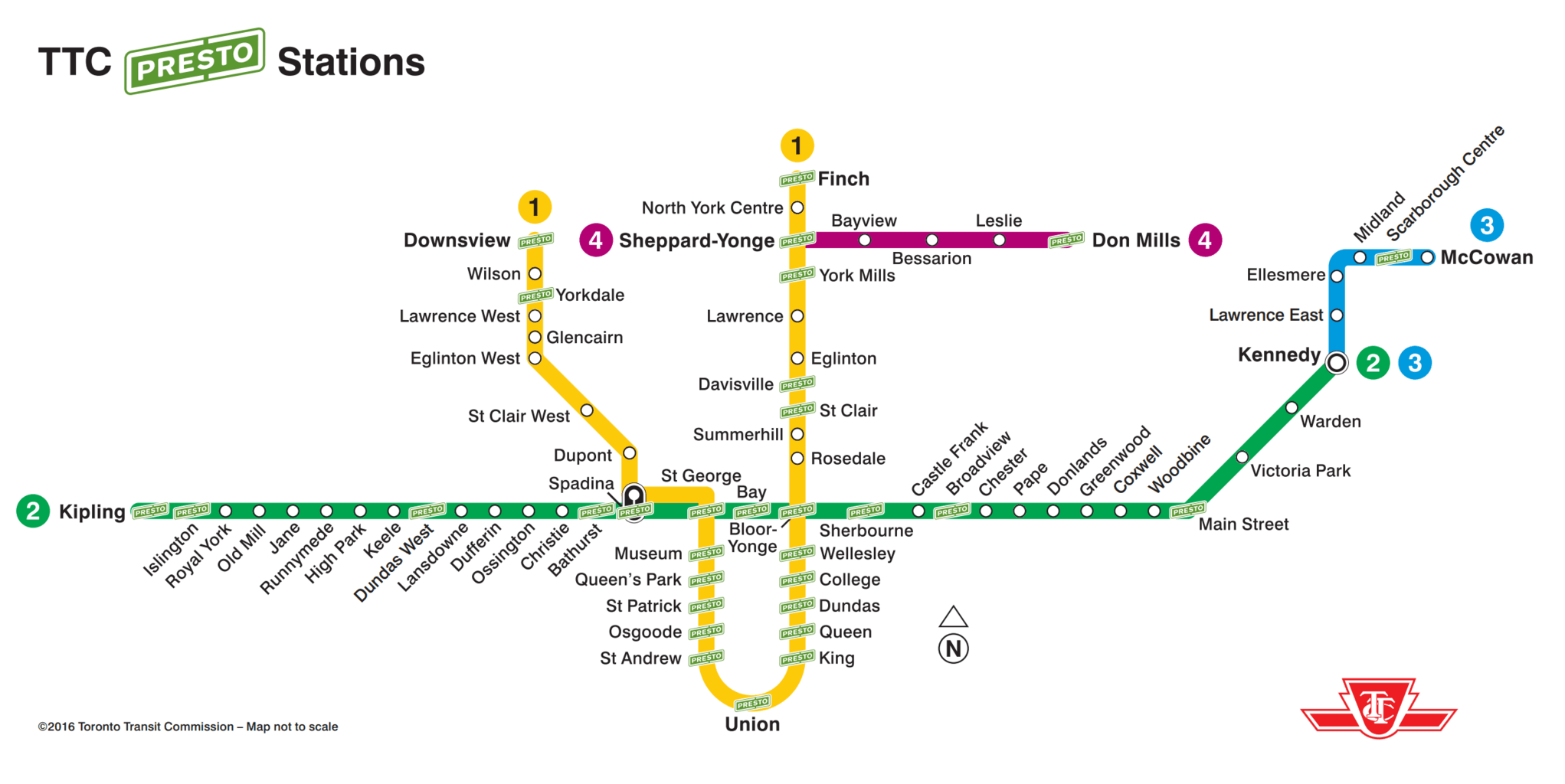 Toronto TTC Subway PRESTO stations - Get Around Toronto