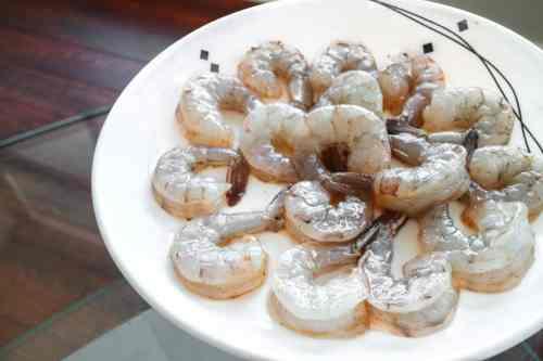 Date Night Recipe - Salt Block Cooking Shrimp Grilling