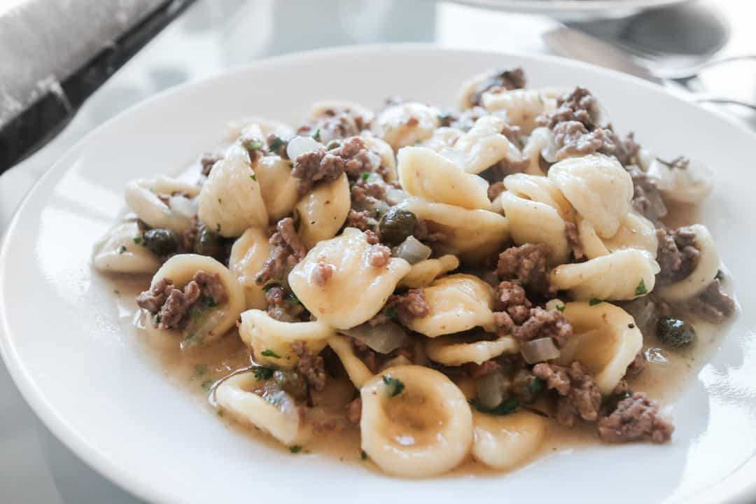 Date Night Recipe - Orecchiette with Veal, Capers and White Wine