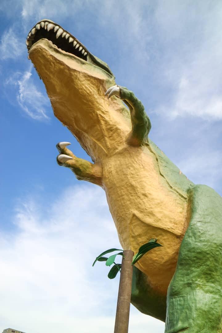 World's Largest Dinosaur in Canadian Badlands (Drumheller), Alberta, Canada