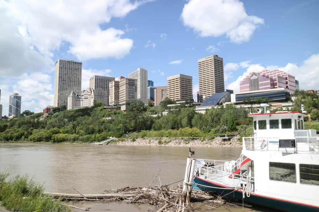 North Saskatchewan River, Downtown Edmonton, Canada