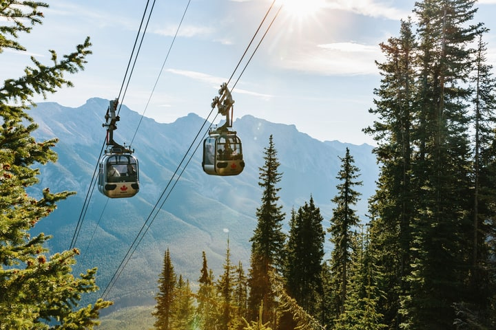 New Banff Gondola Summit