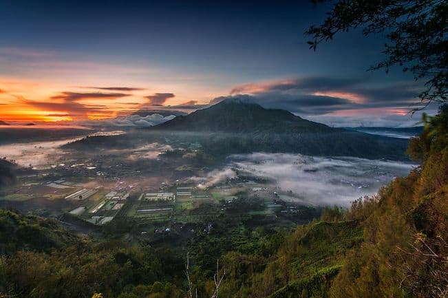 pinggan village batur sunrise bali indonesia