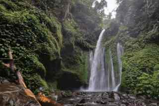 Tiu Kelep Waterfalls, Mt. Rinjani, Lombok, Indonesia