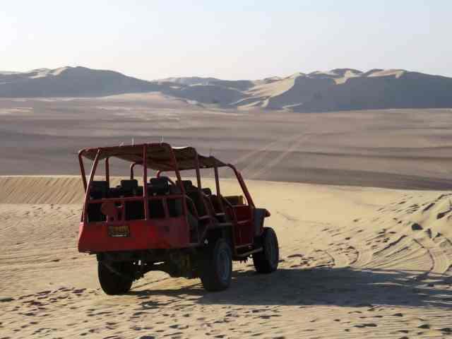 Adventure for adrenaline seekers: Sand buggying Huacachina Peru
