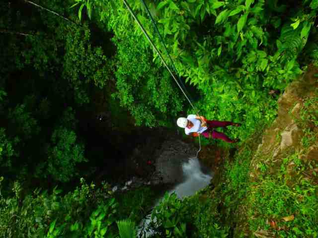 Unforgettable things to do in Costa Rica in November water rappelling canyoning