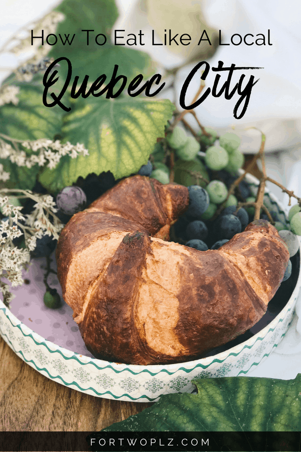 Quebec City is one of the top destinations for food lovers! Want to plan your own Quebec City food tour? This travel guide highlights traditional food to try and the best places to eat in Quebec City. Click through to read more on For Two, Please now! #quebeccity #quebec #travealcanada #travelguide #tripplanning #traveltips #itinerary #thingstodo #foodtour #foodie #foodies