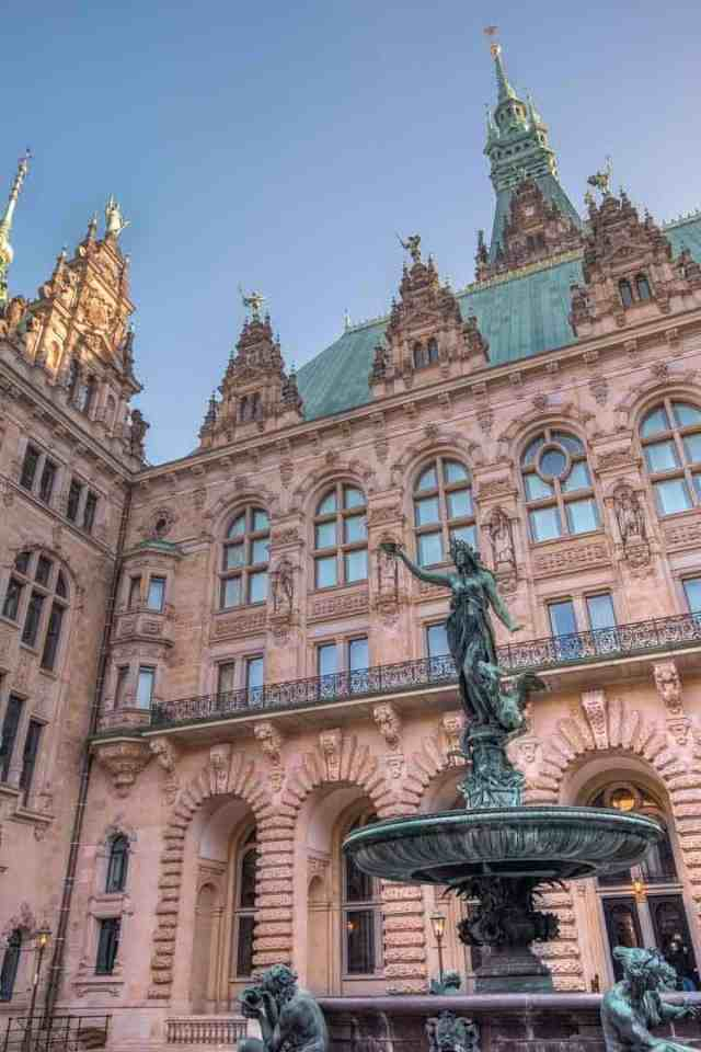 Hamburg City Hall Courtyard