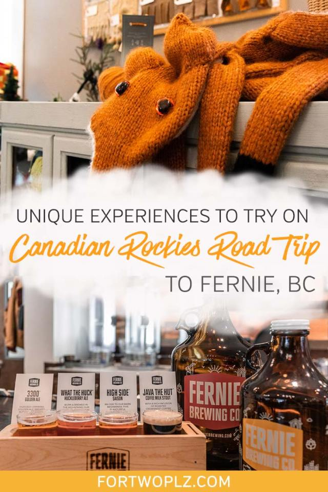 Planning a road trip to the Canadian Rockies this summer? Add a stop to Fernie, BC! From hiking and mountain biking to brewery tour, there are tons fun things to do in Fernie. Plus, the town is home to the first tiny home hotel in Canada! Click to read more about the unique experiences in our Canadian Rockies travel guide! #canadianrockies #explorecanada #ferniebc #britishcolumbia