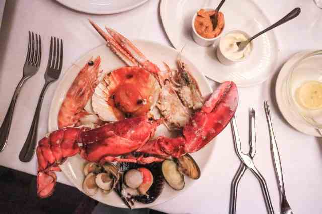 Botafumeiro Romantic seafood restaurant Barcelona