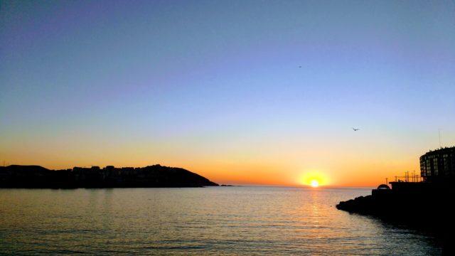 Praia do Orzán A Coruña Spain