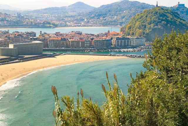 San Sebastian coastal city in northern Spain