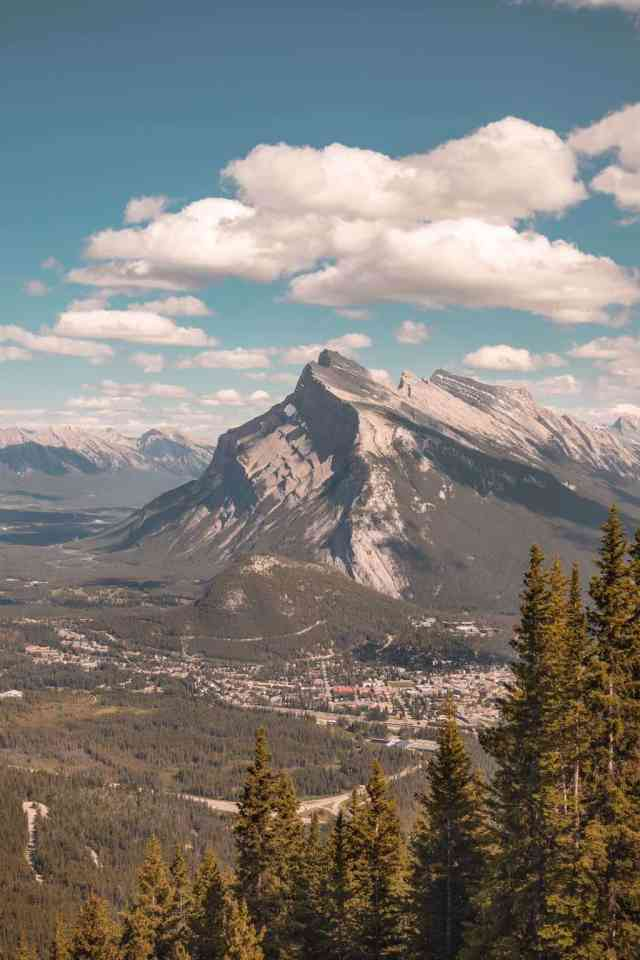 View of Banff National Park on Mount Norquay