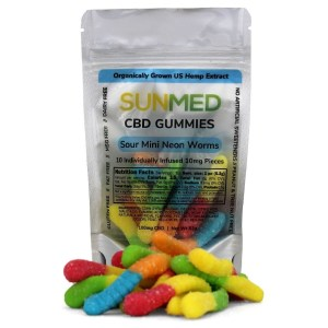 Sunmed CBD Isolate Gummies – 100mg