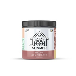 Sunmed CBD Isolate Dog Treats – Bacon- 150mg