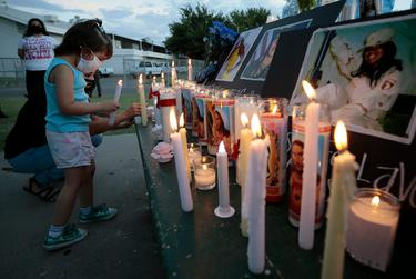 El Pasoans held a vigil for Fort Hood soldier Vanessa Guillen who was murdered in the armory room at the army base. July 2, 2020,