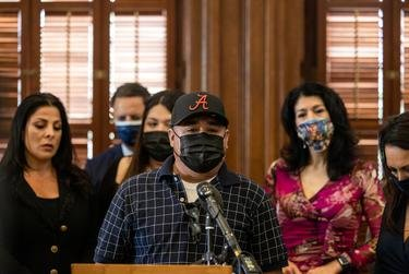 Rogelio Guillen, Vanessa Guillen's father, speaks at a press conference regarding legislation that would designate Sept. 30, Guillen's Birthday, as 'Vanessa Guillen Day' on April 20, 2021.