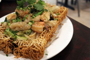 A photo of the bird's nest from La. Seafood and Saigon