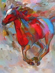 Painting by Hooshang Khorasani